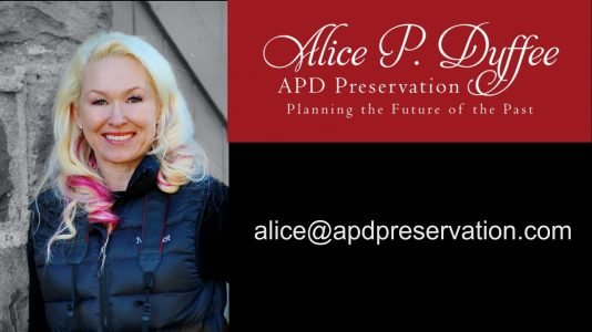 Alice Duffee APD Preservation Sonoma